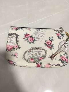 Floral Cosmetic Pouch