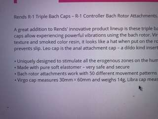 Rends-R1 Triple Bach Caps Attachment