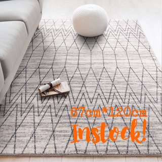 Carpet   Scandi Rugs: Mono   Instock - 67cm*120cm