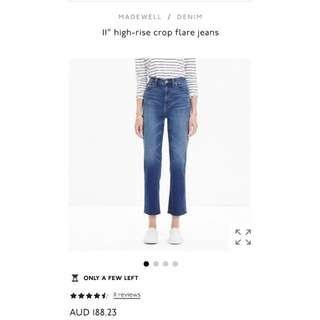 [NEW] Madewell High Rise Crop Flare Jeans