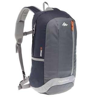Tas Ransel Quechua Arpenaz 20L Hiking Backpack - Black Grey