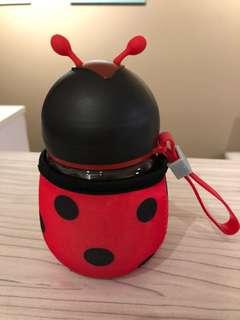 Ladybird glass water bottle