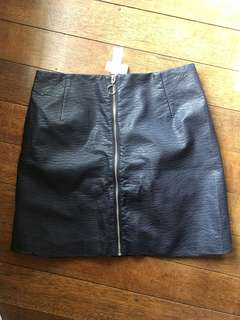Leatherette Mini Skirt