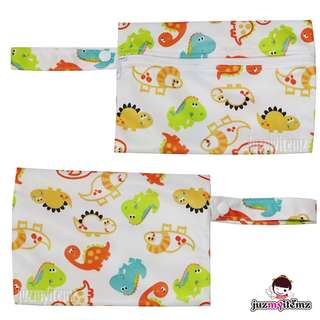 Multipurpose Small Wetbag | Clutch | Pouch - MiniH - Dinos