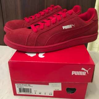 Charity Sale! Authentic Puma Men's Red Shoes Smash SD Size 9US Men Brand New