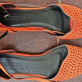 Parisian orange sandal