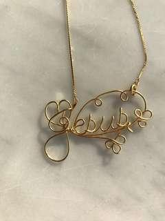 Handcraft  'Jesus' necklace
