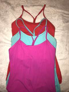 Lululemon Y tanks