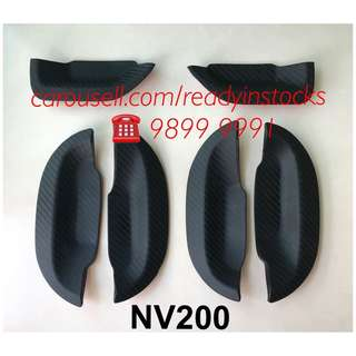 Nissan NV200 Van Handle Rubber Protector Carbon Fiber Design / Nissan Accessories