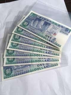 Spore Ship Series $1 notes x 7 run