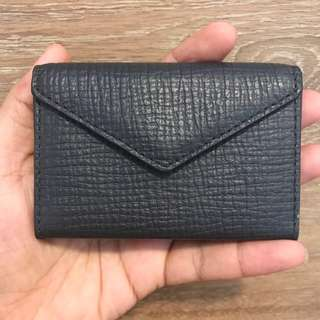 BN Authentic Coach Crosby Box Grain Leather Gray Envelope Business Card Case Holder