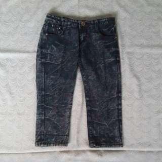 Foldable Hem Pedal Jeans