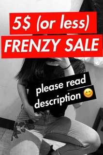 5$ FRENZY SALE