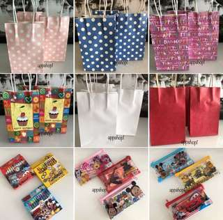 Paper bag, goody bag, goodies bag gift