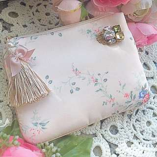 Japan Floral silk small purse