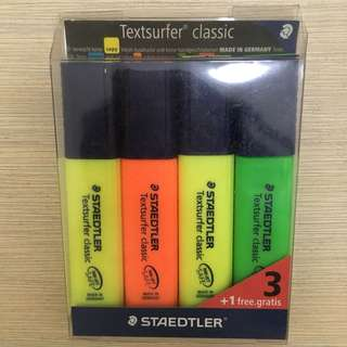 4 pcs Staedtler Highlighters