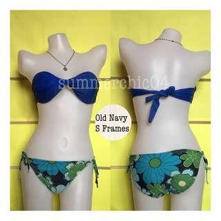 🌸B-00081Floral Green Bikini Bottom🌸