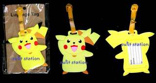 POKEMON go PIKACHU TRAVEL LUGGAGE NAME BAG TAG