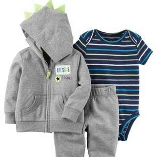 *24M Brand New Instock Carter's 3 Pc Little Jacket Set Boys Rompers Onesies Bodysuits Pants