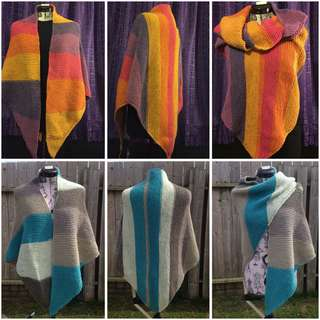 Ready to sell handmade knitted shawl