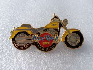 Hard Rock Cafe Pins ~ SAN JUAN HOT & RARE 2001 BIKE NIGHT MOTORCYCLE PIN!