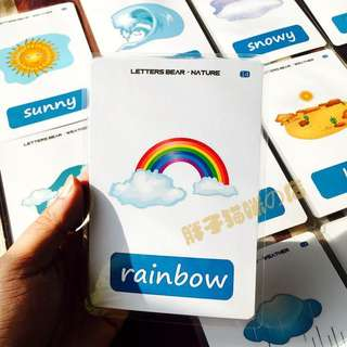 👍🏻🌈WEATHER🌈FLASH CARDS