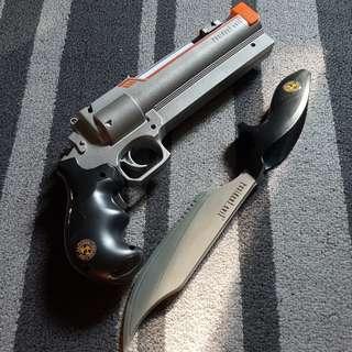 Wii game Resident evil Magnum and knife set