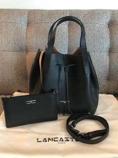 Brand new and authentic Lancaster Paris bucket bag