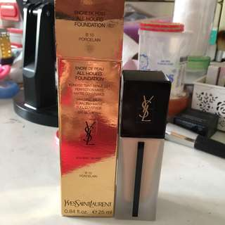 Authentic YSL Yves Saint Laurent All Hours Foundation in B10 Porcelain (Lightest Shade) - Luxury Foundation