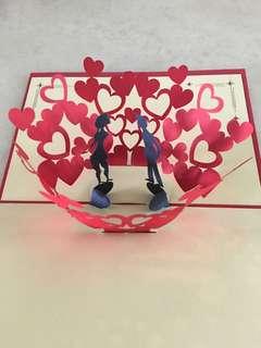 Pop up 3D wedding card (14.5x10cm)