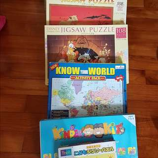 JIGSAW PUZZLES & GAME KIT