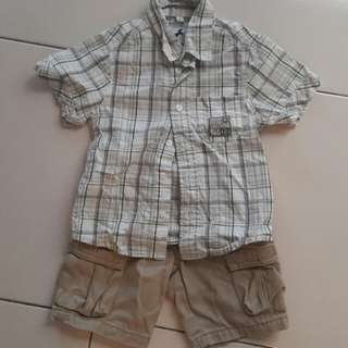 Boys shirt and shorts