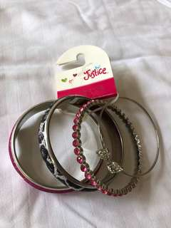 Unused Justice Bangles for teens