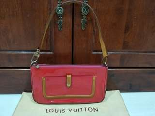 Authentic LV Vernis Mallory Pochette & Shoulder Leather Bag