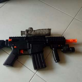 Water BB gun model toy m4a1 m16 AR AR15 CBQ close quarters combat defected 1:1