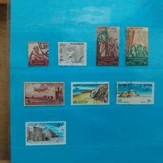 Set of Egypt stamps, 1950/78