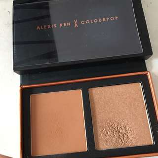 Authentic Colourpop x Alexis Ren Contour & Highlighting Kit - Discontinued model, limited edition