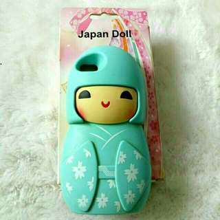 Blue japan doll iphone case