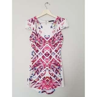 Graphic Print State of Love Mini Dress *Size 8*