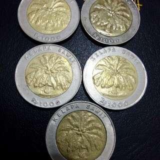 Paket 5 pcs 1000 rupiah sawit