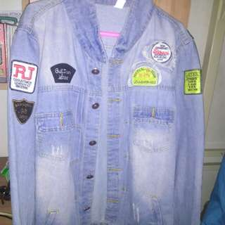 Jaket Denim Retro