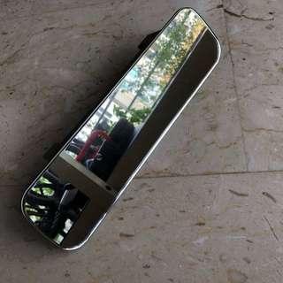Frameless rear mirror 29cm X 8cm attach on clip on (car, accessories, blind spot,)