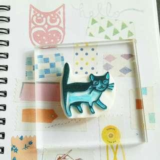 Preloved rubber stamp - cat
