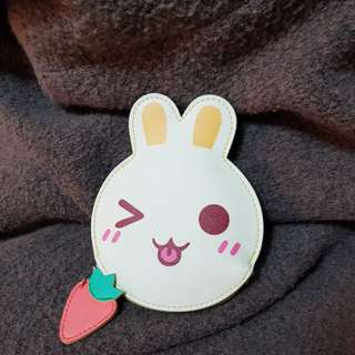 Cute Bunny coin purse with strawberry keychain