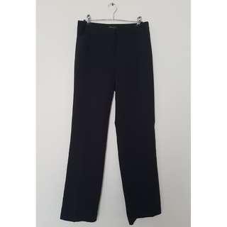 Black Straight Portmans Work Pants *Size 8*