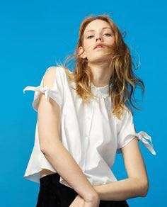 Zara white blouse