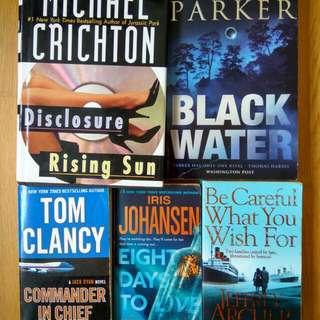 $2.70 thriller suspense mystery crime fiction crichton archer parker johanssen any3for$8 (or$4.90each)