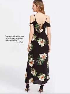Summer maxi dress fits S-L