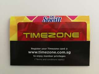 New Timezone Card Value $60