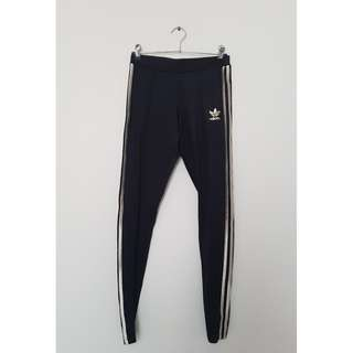Black & Gold 3-Stripe Adidas Tights *Size 10*
